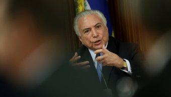 Justicia brasileña investigará presidente Michel Temer corrupción