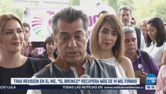 Jaime Rodríguez, 'El Bronco', se acerca al umbral de firma