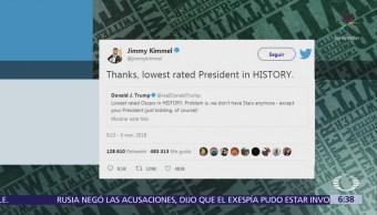 Jimmy Kimmel arremete contra Trump en Twitter por rating del premio Oscar
