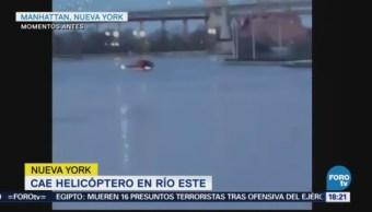 Cae Helicóptero Río Este Nueva York