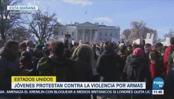 Jóvenes de EU exigen mayor control de armas