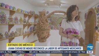 Juana Cuevas Meade Destaca Labor Artesanos