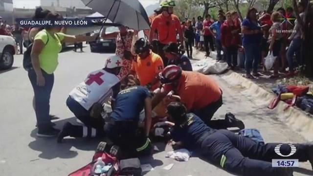 Reportan Atropellamiento Tianguis Guadalupe Nuevo León