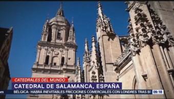 La catedral de Salamanca en España