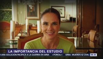 Alejandra Diener habla de la importancia del estudio