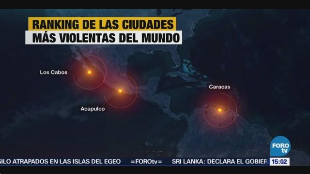 Cabos Ciudades Más Violentas Mundo