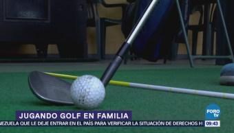 Lugares para el fin: Jugando golf en familia