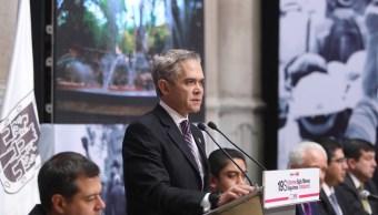 Mancera presenta 'Reconstrucción CDMX' tras sismo del 19-S