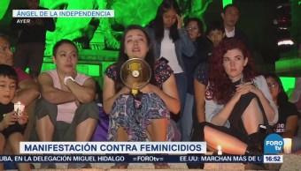 Manifestación contra feminicidios en CDMX