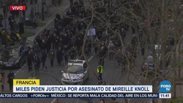 Manifestantes piden justicia por asesinato de Mireille Knoll