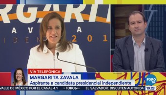 Margarita Zavala destaca que estuvieron al pendiente de las firmas