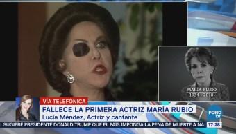 María Rubio deja una estela de buenos recuerdos: Lucía Méndez