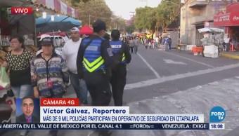 Más de 9 mil policías participan en la seguridad en Iztapalapa