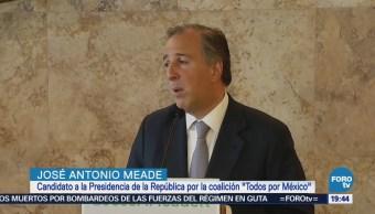Meade repudia la violación a los derechos humanos