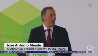 Meade solicita registro como candidato de la coalición 'Todos por México'