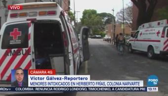 Menores intoxicados por fuga de gas en Heriberto Frías, colonia Narvarte, CDMX