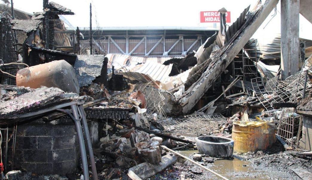 autoridades reconstruccion mercado hidalgo incendio locatarios