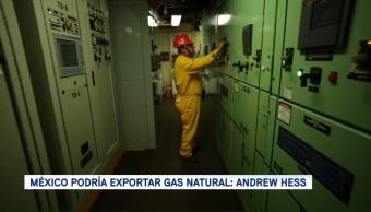México podría exportar gas natural a Asia, considera Andrew Hess
