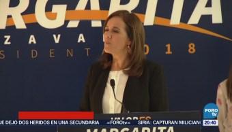Mi postulación es legal: Margarita Zavala