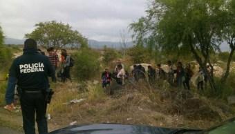 PF rescata a 27 centroamericanos en SLP