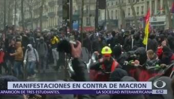 Miles de franceses se manifiestan contra la reforma laboral de Macron