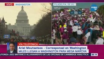 Miles Personas Llegan Washington Mega Marcha Contra Armas