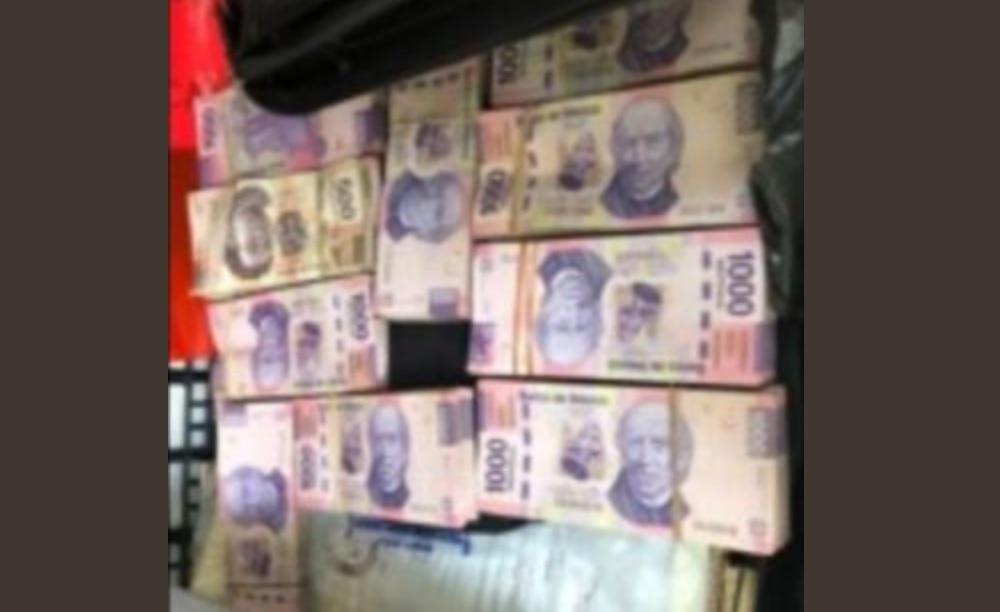 Detienen a dos hombres con un millón de pesos