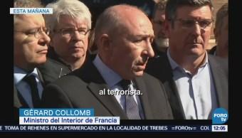 Ministro del Interior francés hace recuento de toma de rehenes en Trebes