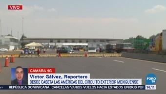 Bloqueo en el Circuito Exterior Mexiquense suma 6 horas