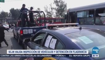Scjn Valida Inspección Vehículos Detención Flagrancia
