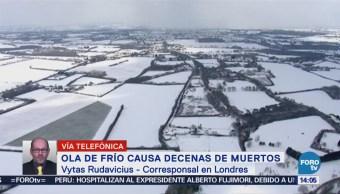 Ola de frío causa decenas de muertos en Europa
