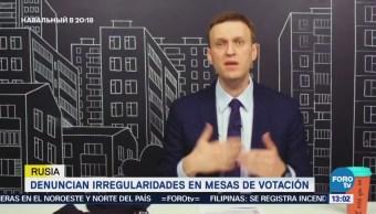 Opositores rusos denuncian irregularidades en mesas de votación