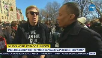 """Paul McCartney participa en la """"Marcha por Nuestras Vidas"""""""