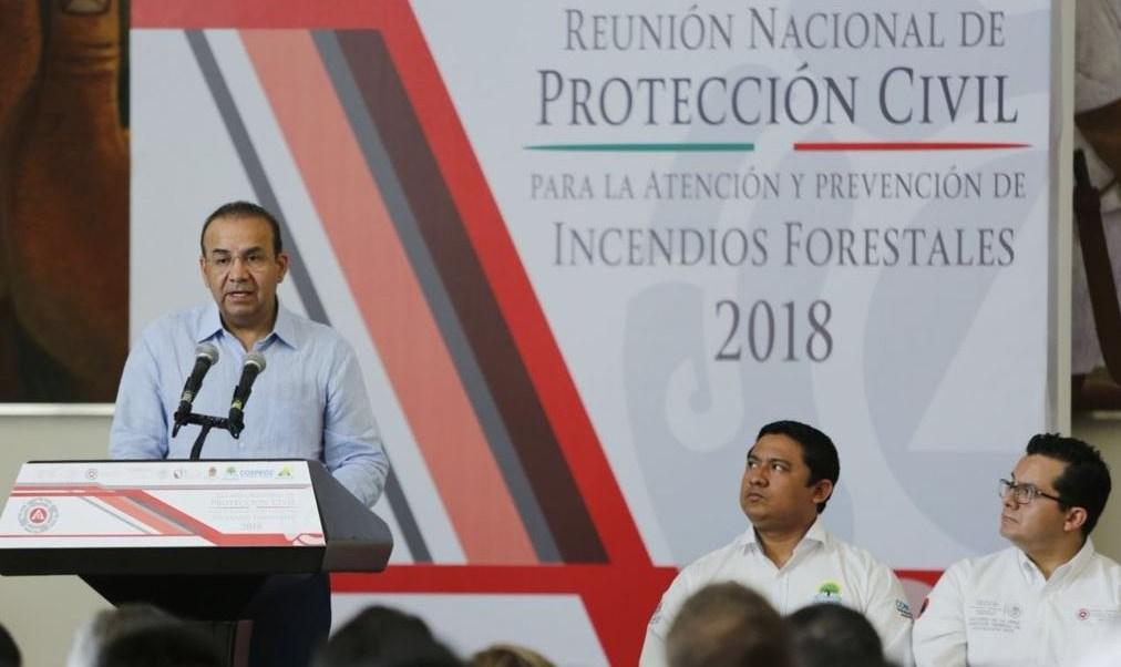 Navarrete Prida clausura reunión nacional de Protección Civil en Chetumal, Quintana Roo