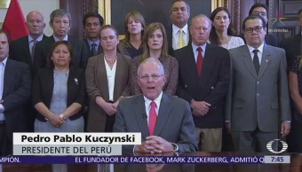 Pedro Pablo Kuczynski renuncia a la Presidencia de Perú