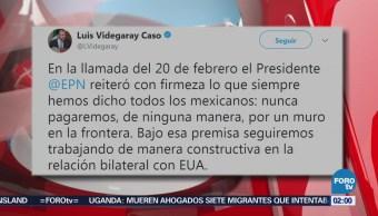 Peña Nieto Reiteró Trump México Pagará Muro