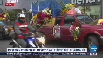 Peregrinos Avanzan Hacia Basílica Guadalupe Calles Cuajimalpa