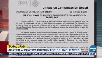 PGR inicia investigación por emboscada contra marinos en Tamaulipas
