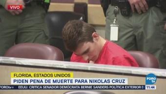 Piden pena de muerte para Nikolas Cruz