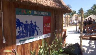 campeche primera playa inclusiva equipo capacidades