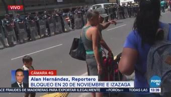 Policías Impiden Avance Manifestantes Centro Cdmx