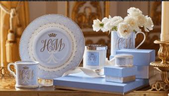 Porcelana conmemorativa de la boda de Enrique y Meghan