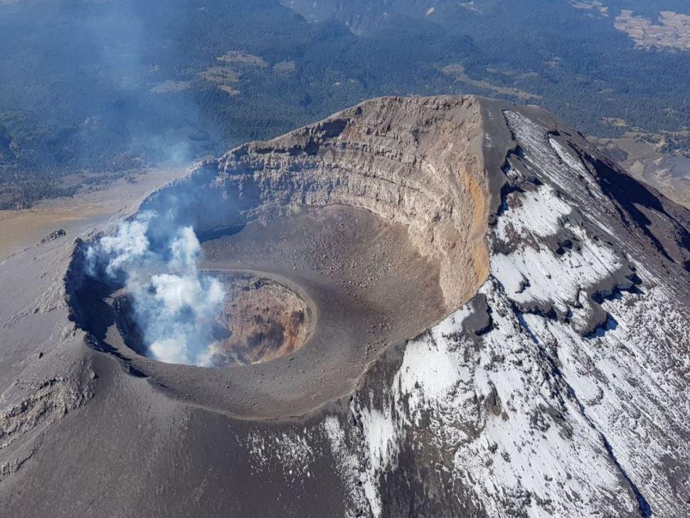 cenapred domo crater popocatepetl centro nacional