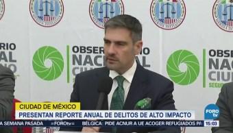 Presentan Reporte Anual Delitos Alto Impacto Cdmx