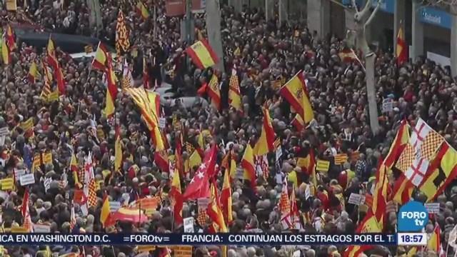 Protesta con humor para rechazar la independencia en España