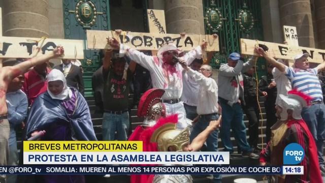 Protesta en la Asamblea Capitalina