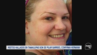 Raquel Garrido confirma que restos hallados en Tamaulipas son de su hermana