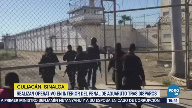 Realizan Operativo Penal Aguaruto, Sinaloa