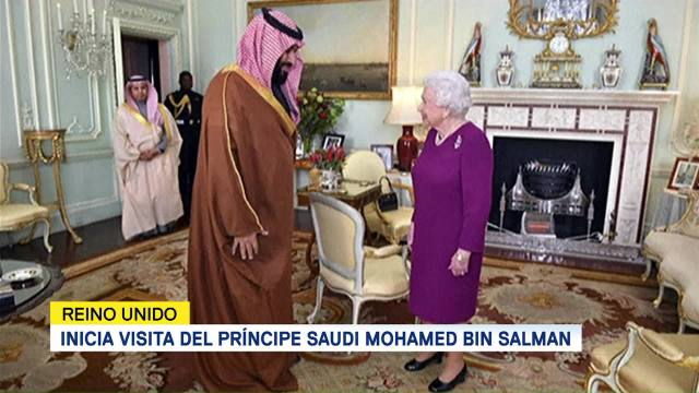 Reina Isabel II recibe al príncipe heredero saudí Mohammed bin Salman en Buckingham
