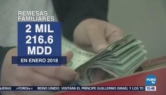 Remesas familiares aumentan en enero, reporta Banxico